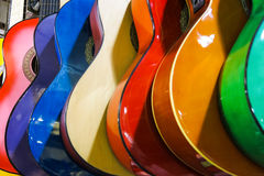 Colorful guitars on the Istanbul Grand Bazaar. Stock Image