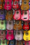 Colorful guitars Royalty Free Stock Image
