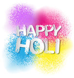 Colorful Gulal for Happy Holi invitation and greeting card. Gulal for Happy Holi invitation and greeting card Royalty Free Stock Images