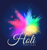 Colorful Gulal for Happy Holi invitation and greeting card. Abstract colorful Gulal for Happy Holi invitation and greeting card Stock Photo
