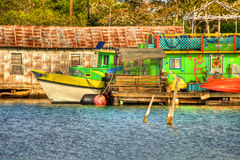 Colorful Gulf Coast Tour Boat Stock Images