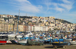 Colorful gulf of Naples Royalty Free Stock Image