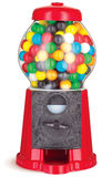 Colorful gumball chewing gum dispenser machine on stock image
