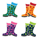 Colorful gumboots boot Royalty Free Stock Image