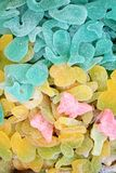 Colorful gummy baby candies background Royalty Free Stock Photos