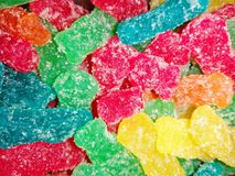 Colorful Gummy bears. Gummy bear candies Stock Images