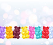 Colorful gummy bears candies background. Royalty Free Stock Image