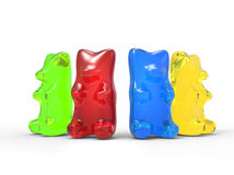 Colorful Gummy Bears Stock Images