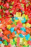 Colorful gummy candies for babies. Vivid colorful gummy candies background for different types of supports stock photos