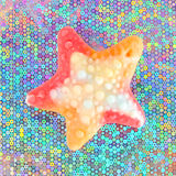 Colorful gummy sweet stars Stock Photos