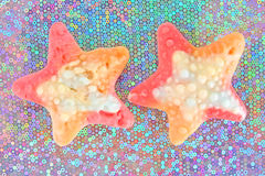 Colorful gummy sweet stars Stock Photo