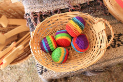 Colorful Hacky Sacks royalty free stock photography