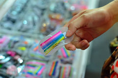 Colorful hair accessories Stock Photo