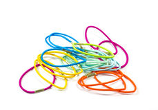 Colorful hair bands . Set of colorful hair bands stock images