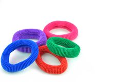 Colorful hair bands Royalty Free Stock Photo