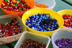 Colorful Hair Beads Stock Photos