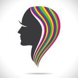 Colorful hair of beautiful women Stock Photos
