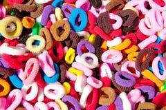 Colorful hair elastics Stock Photo