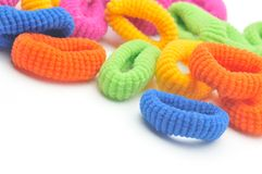 Free Colorful Hair Elastics Royalty Free Stock Photos - 7682078