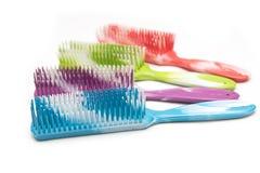 Colorful hairbrush Stock Image