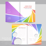 Colorful half-fold brochure template design Royalty Free Stock Photo