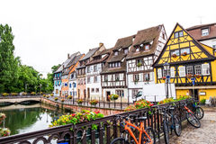 Colorful half-timbered houses in Petite Venice, Colmar, France. Royalty Free Stock Photos