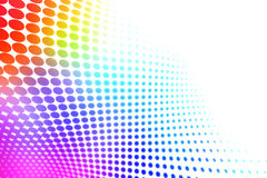 Colorful halftone. Wavy colorful abstract halftone background vector illustration