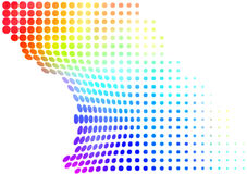 Colorful halftone abstract Stock Image