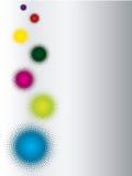Colorful halftone background Stock Image