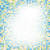 Colorful halftone background.Halftone dots frame.Abstract  illustration. Stock Photography