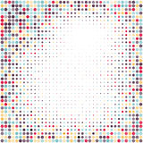 Colorful halftone background.Halftone dots frame.Abstract  illustration. Royalty Free Stock Image