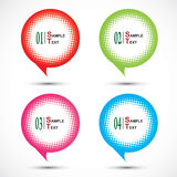 Colorful halftone bubble tag isolated on white Stock Photography