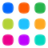 Colorful halftone buttons Royalty Free Stock Images