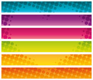 Colorful halftone commercial banners. Stock Photo