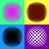 Colorful halftone design elements Stock Images