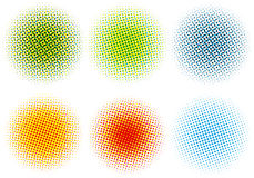 Colorful halftone dots,  Stock Photography
