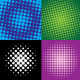 Colorful  halftone dots Stock Photos