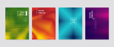 Colorful halftone flyers. Vector templates royalty free illustration