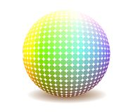 Colorful  halftone sphere Stock Photography