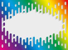 Colorful Halftone Transition Background with copyspace in Rainbo Royalty Free Stock Images