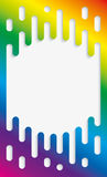 Colorful Halftone Transition Background with copyspace in Rainbow Stock Photos