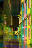 Colorful hall. Building hall colored by sunlight passing through tinted windows Royalty Free Stock Image