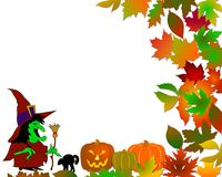 Colorful halloween background Stock Photos