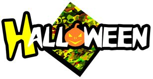 Colorful Halloween background with pumpkins Royalty Free Stock Image