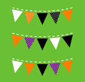 Colorful Halloween Bunting Stock Photos