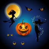 Colorful halloween decorative elements Royalty Free Stock Photos