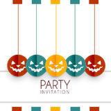 Colorful halloween design Stock Photography