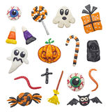 Colorful Halloween elements Stock Photo