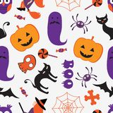 Colorful Halloween pattern Royalty Free Stock Photos