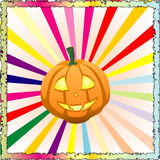 Colorful Halloween pumpkin Royalty Free Stock Image